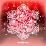 Winter background made of snowflakes. Royalty Free Stock Photos