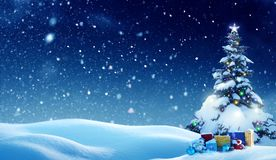 Merry Christmas and happy New Year greeting ca stock images