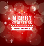 Winter Background. Merry christmas background and happy new year with snowflakes Royalty Free Stock Photo