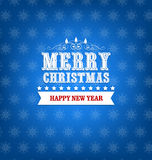 Winter Background. Merry christmas background and happy new year with snowflakes Stock Images