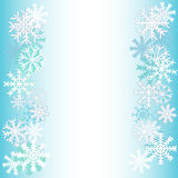 Winter background. New winter background with beautiful various snowflakes Stock Photography