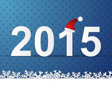 2015 winter Background. New Year illustration background for 2015 Stock Photography