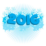 Winter 2016. Winter background and number 2016 stock illustration