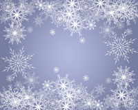 Winter background. With a pale lilac color with snowflakes Stock Photography