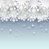 Winter background with paper snowflakes Royalty Free Stock Photography