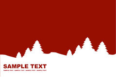 Winter background red Royalty Free Stock Images