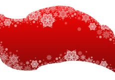Winter background red&snowflakes Stock Images