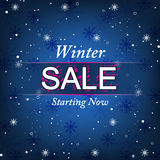 Winter background with sale offer Royalty Free Stock Photos