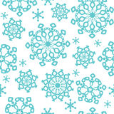 Winter background, seamless pattern with snowflake Stock Photography