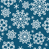 Winter background, seamless pattern with snowflake Stock Images