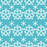 Winter background, seamless pattern with snowflake Royalty Free Stock Photos