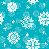 Winter background, seamless pattern with snowflake Stock Photos