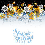 Winter background with shine snowflakes Royalty Free Stock Photos