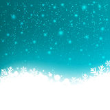 Winter background. With shiny lights Stock Image