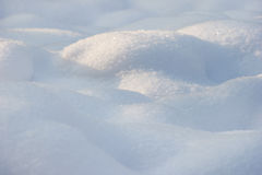 Winter background of shiny white snow Stock Photography