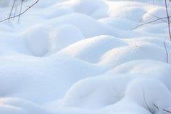 Winter background of shiny white snow Royalty Free Stock Photos