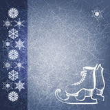 Winter background with skate boots. EPS10 Stock Images