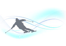 Winter background, skier Royalty Free Stock Photos