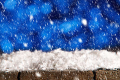 Winter background with snow fall Royalty Free Stock Photos