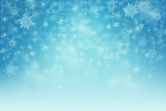 Winter background. With snow flakes Stock Image