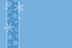 Winter background. With snow flakes Royalty Free Stock Photos