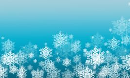 Winter background with snow flakes Royalty Free Stock Photography