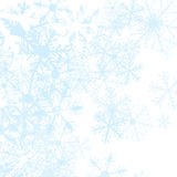 Winter background with snow flakes,. Illustration Stock Images