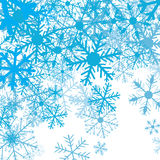 Winter background with snow flakes,  Stock Image