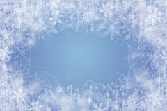 Winter background. With snow flakes and swirls Royalty Free Stock Photo