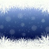 Winter background snow and snowflakes Royalty Free Stock Photos