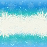 Winter background snow and snowflakes Royalty Free Stock Images