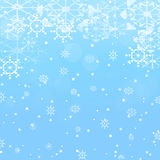 Winter background with snow and snowflakes Stock Image