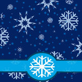 Winter background from snowflake Stock Images