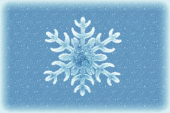 Winter background with snowflake Royalty Free Stock Image