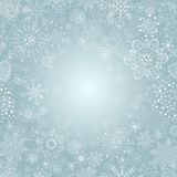 Winter background with snowflake illustration Stock Images