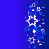 Winter background with snowflakes. Stock Images