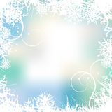 Winter background, snowflakes royalty free illustration