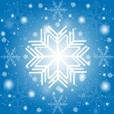 winter background of snowflakes  Stock Photography