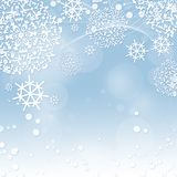Winter background with snowflakes Royalty Free Stock Photography