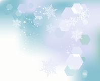 Winter background, snowflakes Stock Image