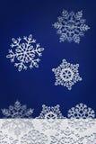 Winter background with snowflakes. Dark blue winter background with snowflakes falling down Royalty Free Stock Photos