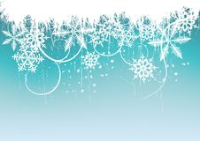 Winter background, snowflakes Stock Images