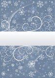 Winter background with snowflakes. Abstract winter background with snowflakes and place for text. Additional vector format in EPS (v.8 Royalty Free Stock Photos