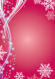 Winter background with snowflakes. Red Winter background with stylish snowflakes Stock Image