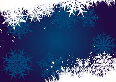 Winter background, snowflakes Stock Photography