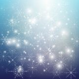 Winter background with snowflakes. Abstract winter Royalty Free Stock Photography