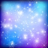 Winter background with snowflakes. Abstract winter Stock Images