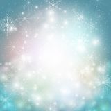 Winter background with snowflakes. Abstract winter Stock Photos