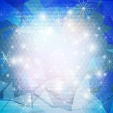 Winter background with snowflakes. Abstract winter Stock Photo