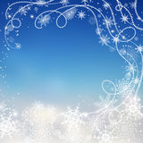 Winter background with snowflakes. Royalty Free Stock Images